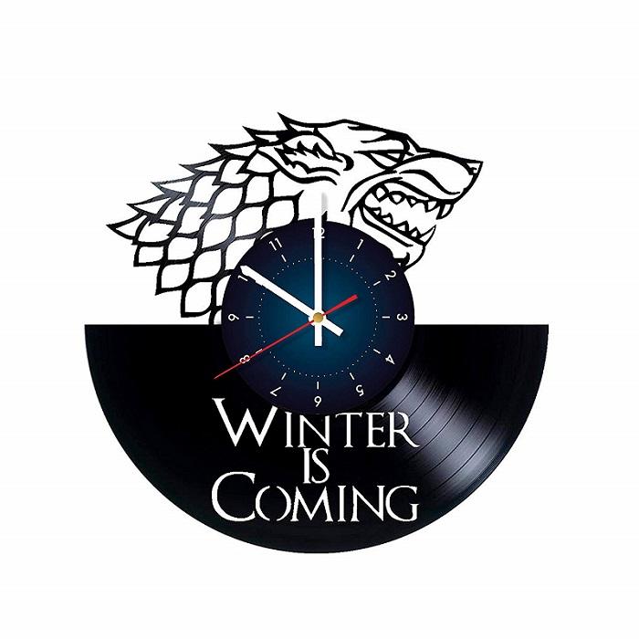 WINTER IS COMING Art Vinyl Wall Clock