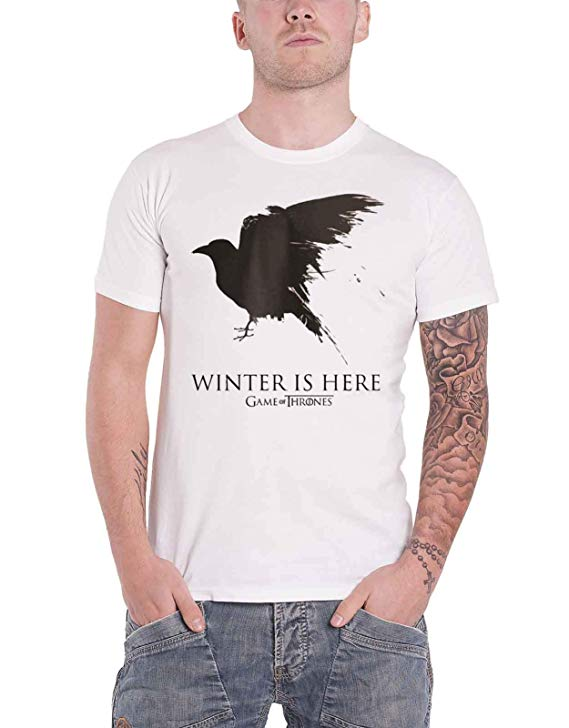 Winter is Here Crow Mens T-shirt Season 8