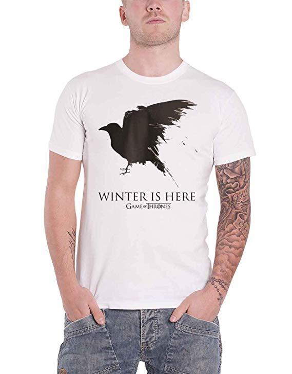 Winter is Here Crow Mens T-shirt Season 8
