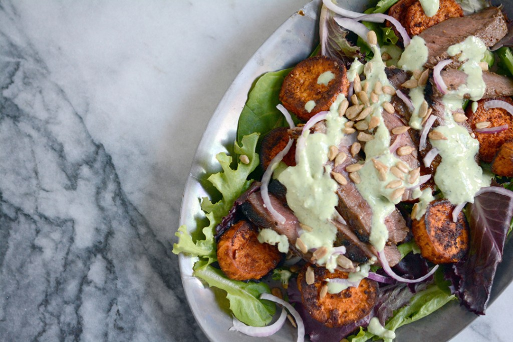 Grilled Steak Salad with Sweet Potatoes