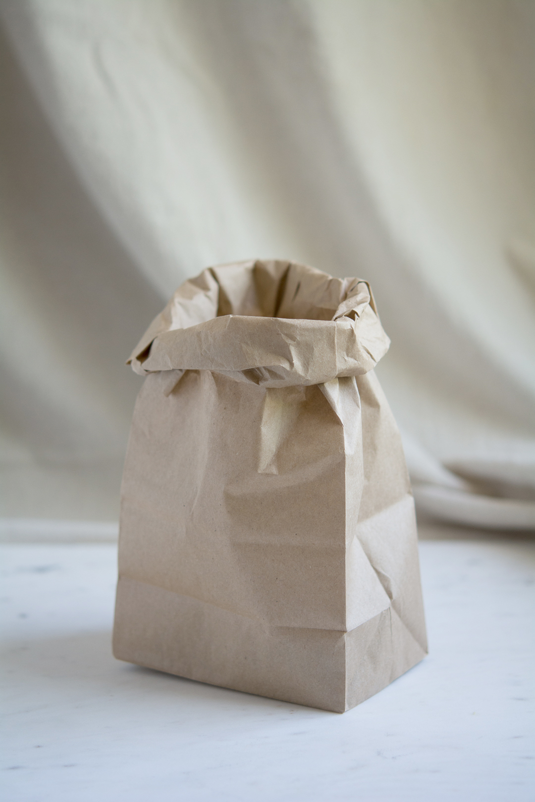 Standing Paper Bag Filled with Shelagh's Granola