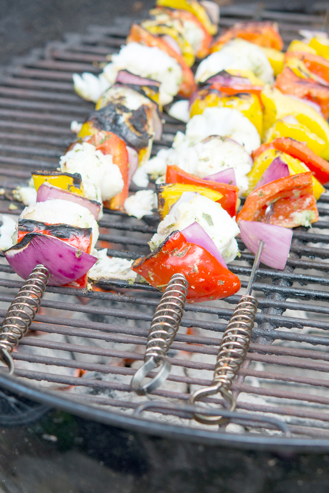 Cabin Halibut Skewers on the grill