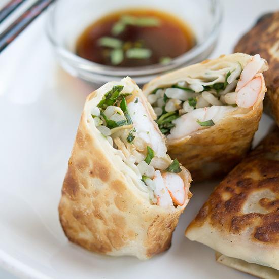 Pan-Fried Shrimp Egg Rolls