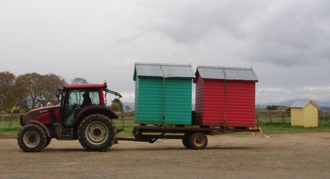 Some lovely Sheds by the sea at Llanbedrog
