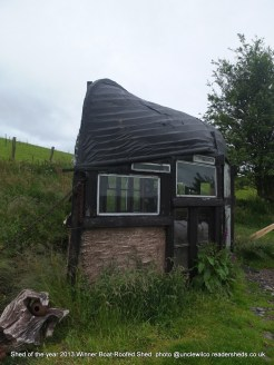 Shed of the year 2013 Winner Boat Shaped shed owned by Alex