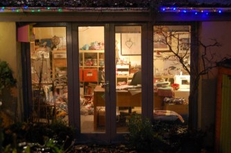 shed at night