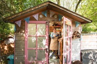 The PrickleBum shed owned by Ailie Hill from Ludlow is one of 32