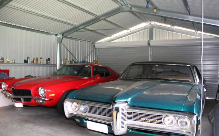 A custom-designed garage can make excellent storage for your classic car.