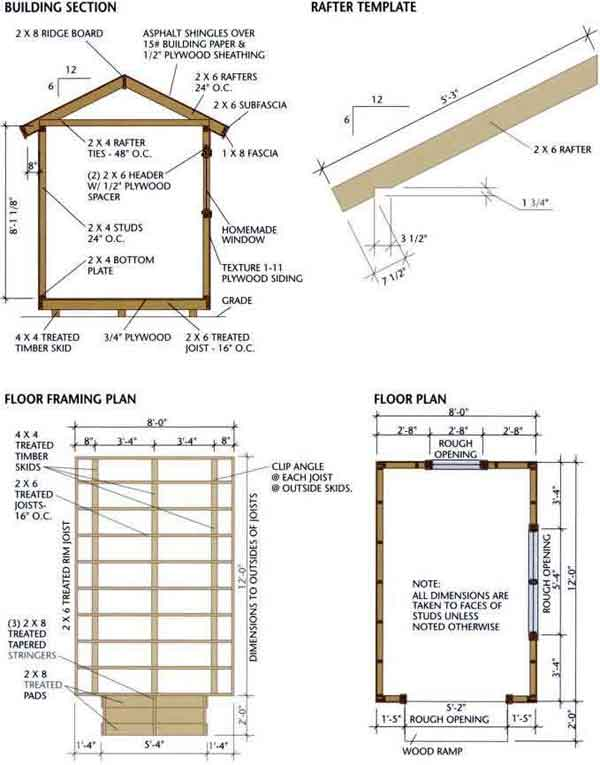 Wood Storage Shed Plans Free