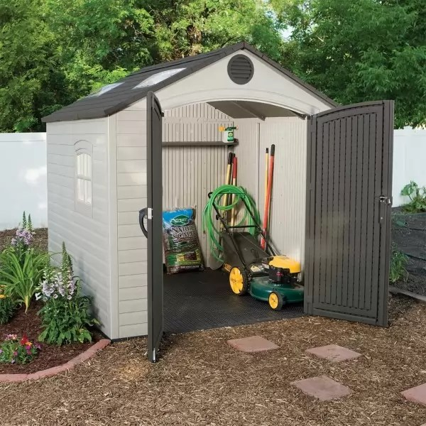 Lifetime 8x75 Ft Plastic Outdoor Storage Shed Kit 60015