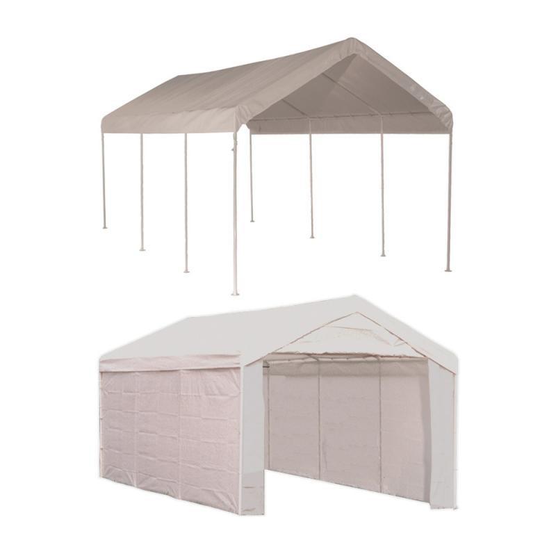 Shelter Logic 1020 Canopy Carport Kit W Side Panels