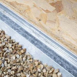 Floor groove on 6X9 Metal Shed from Sheds Direct Ireland