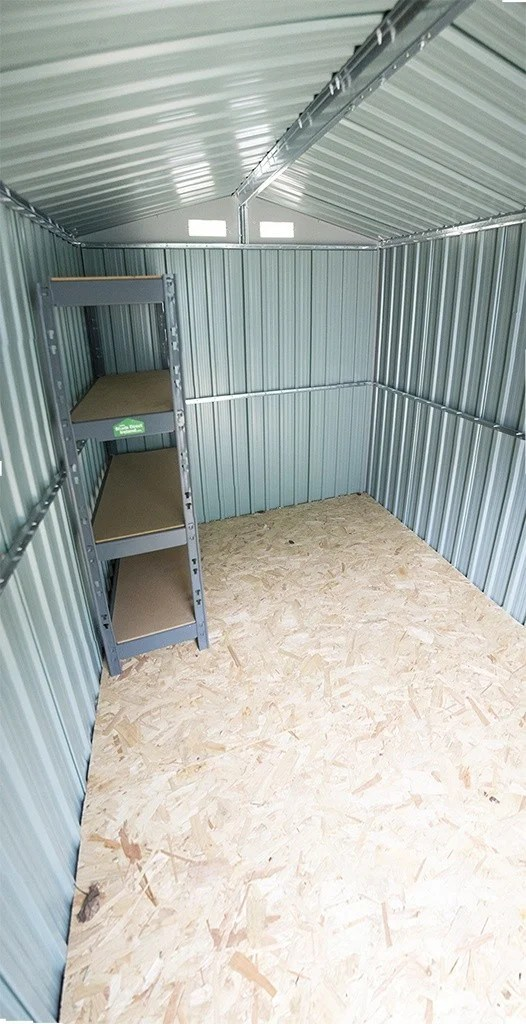 Steel Shed 6x9 Internal view