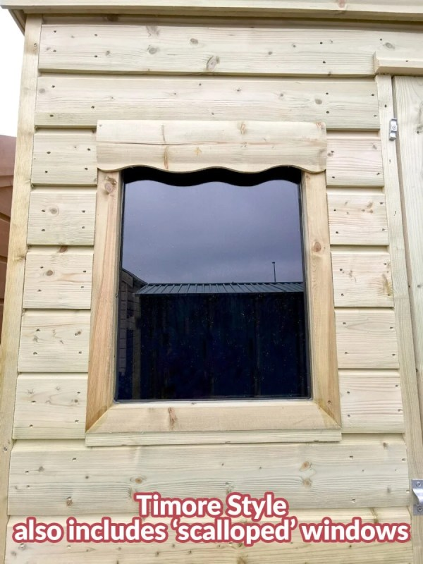 The window on a Timore Style Wooden Cabin Shed