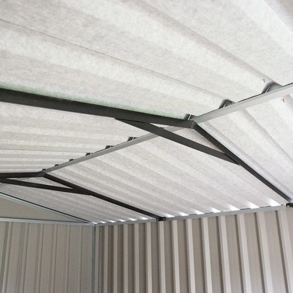 PVC clad Steel shed interior metal frame