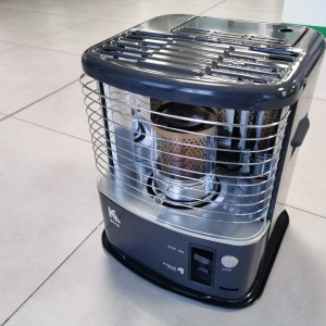 The Kero 241 heater in the Sheds Direct Ireland showroom