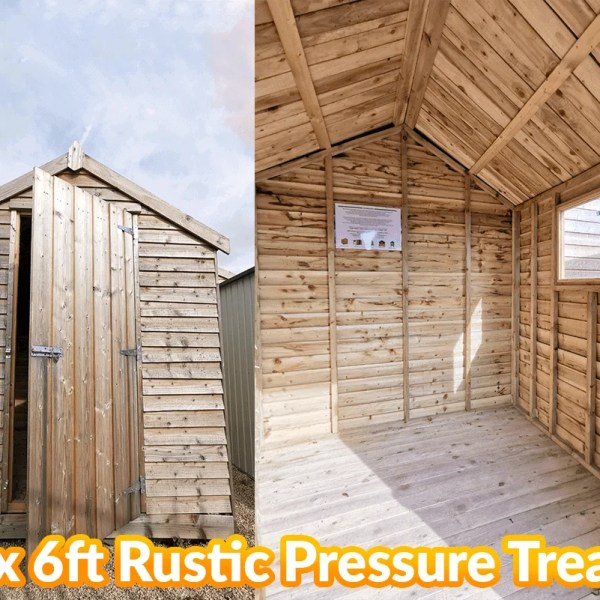 The 6ft x 6ft rustic shed with pressure treatment