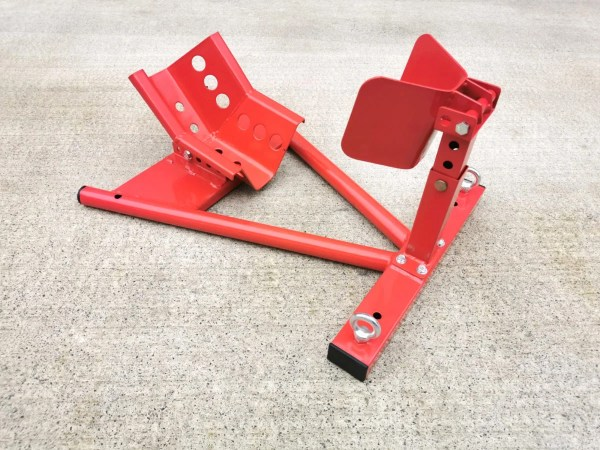 Motorbike Stand in red with adjustable wheel height holder