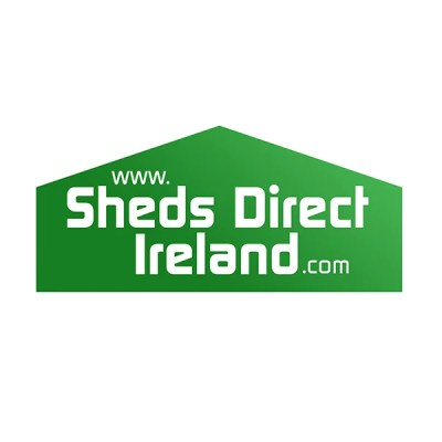 Sheds Direct Ireland logo in two shades of green, with a gradient blending them together
