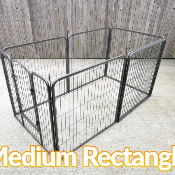 The dog pen in the Medium rectangle formation