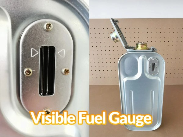 Details of the fuel gauge on the minimax heater tank
