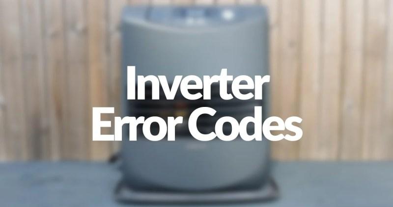 Inverter Error Codes written on an inverter 5086 paraffin heater