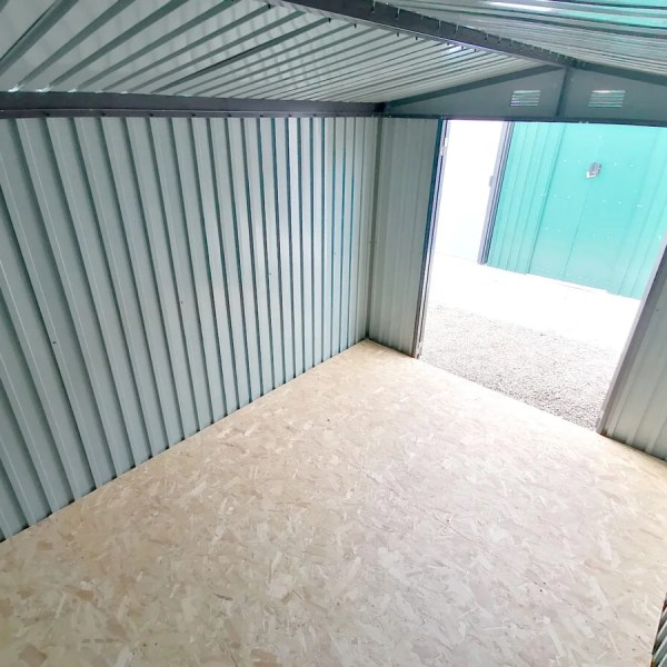 An internal view of the 8ft x 10ft Premium Apex Shed