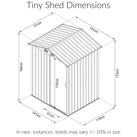 Tiny Shed Dimensions from Sheds Direct Ireland