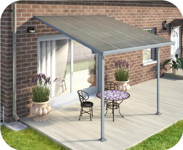 palram 10x10 feria patio cover kit gray