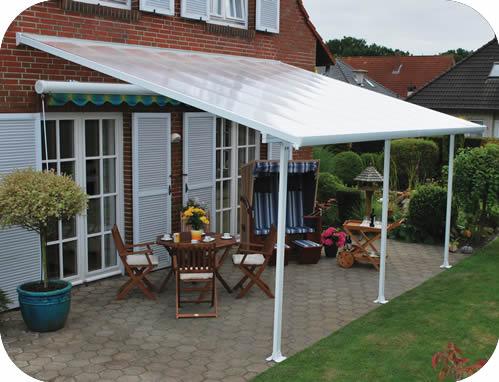palram 10x28 feria patio cover kit white