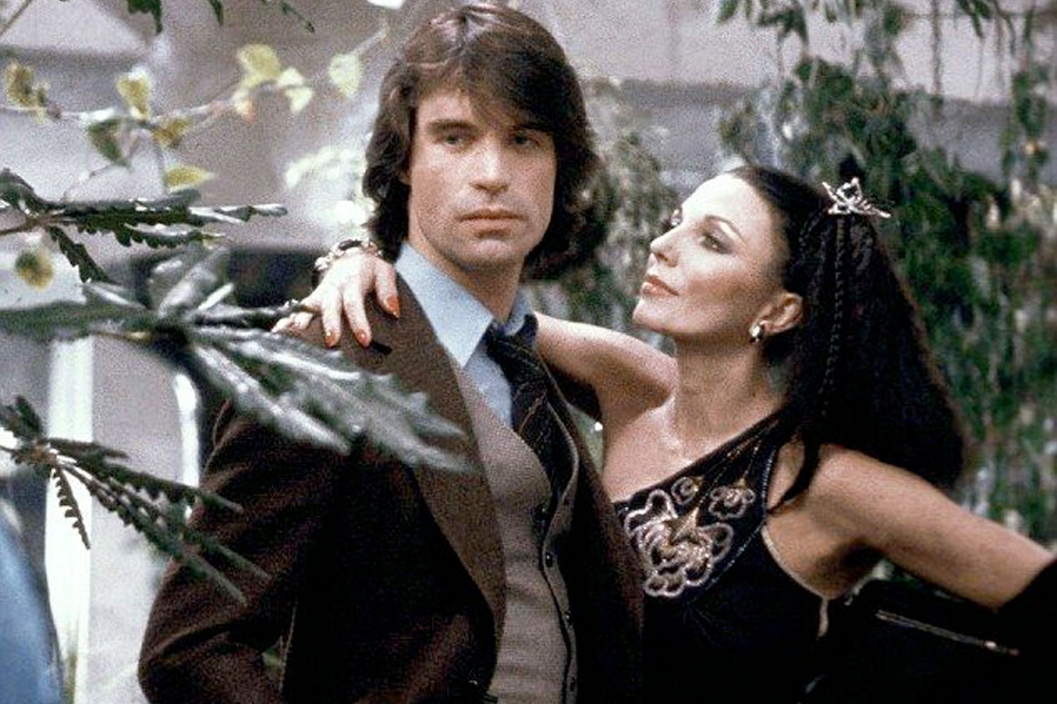 Image result for oliver tobias and joan collins in 'the stud'