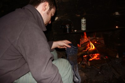Sidney trocknet wohlriechende Socken