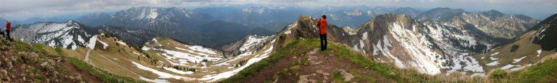 Rotwand Gipfelpanorama auf 1.884m