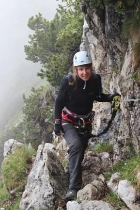 Einstieg in den Winkelkarstieg-Klettersteig