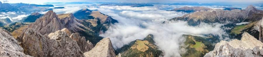 Panorama vom Sass Rigais (2.025m)