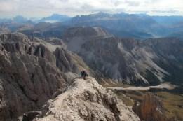 Abstieg in luftiger Höhe