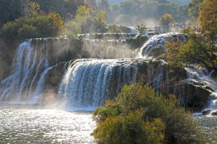 Der Wasserfall Skradinski Buk