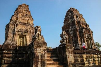 Die Pyramidentempel (Prasate) von Eastern Mebon