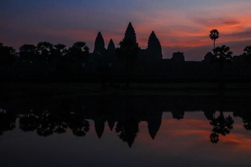 Sonnenaufgang über Angkor Wat