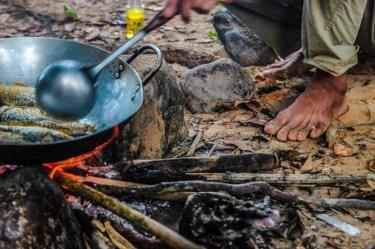 Für die Einheimischen gibt es frische Fischis