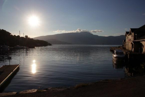 Sonnenuntergang in Jondal
