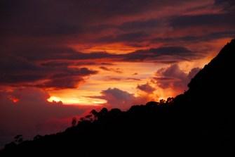 Sonnenuntergang auf 3.320m