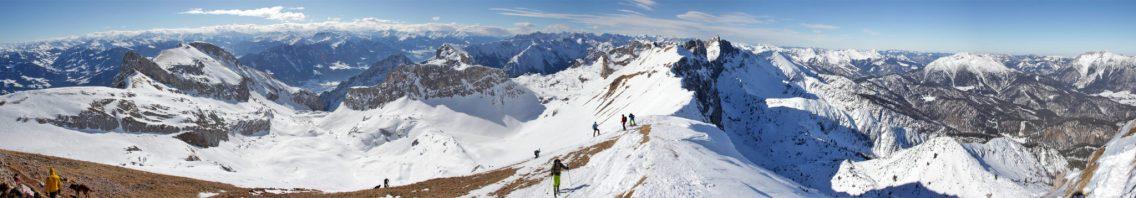 Gipfelpanorama von der Rofanspitze (2.259m)
