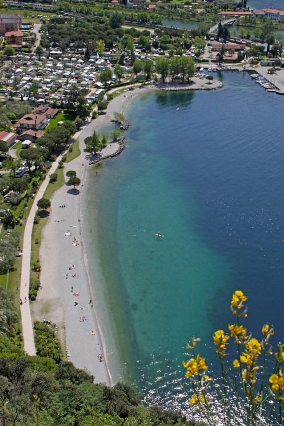 Strand in Torbole am Gardasee