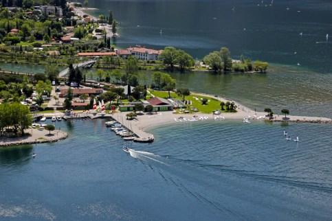 Blick auf Torbole am Gardasee