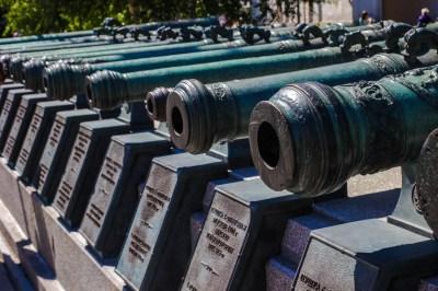 Alte Kanonen aus der Zeit von Napoleon