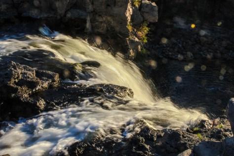 Morgensonne am Wasserfall Orkhon