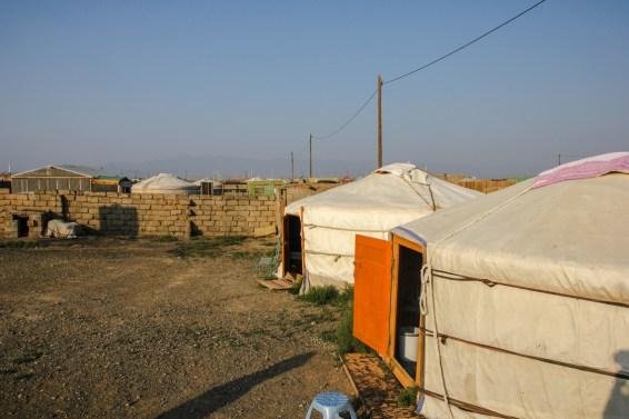 Jurtencamp in der Stadt Dalanzadgad