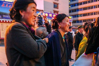 Auf dem People's Square in Kangding