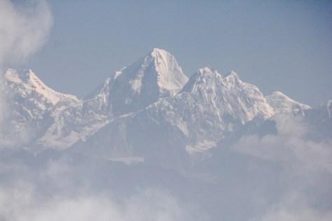 Blick auf das Langtang Gebirge und den 6.988m hohen Dorje Lhakpa